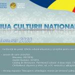 Afis Ziua Culturii Nationale 2020